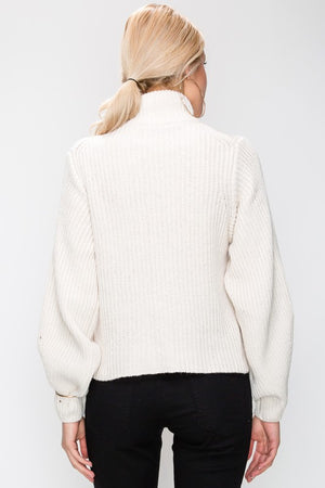 Angelina - Cream Turtleneck Sweater