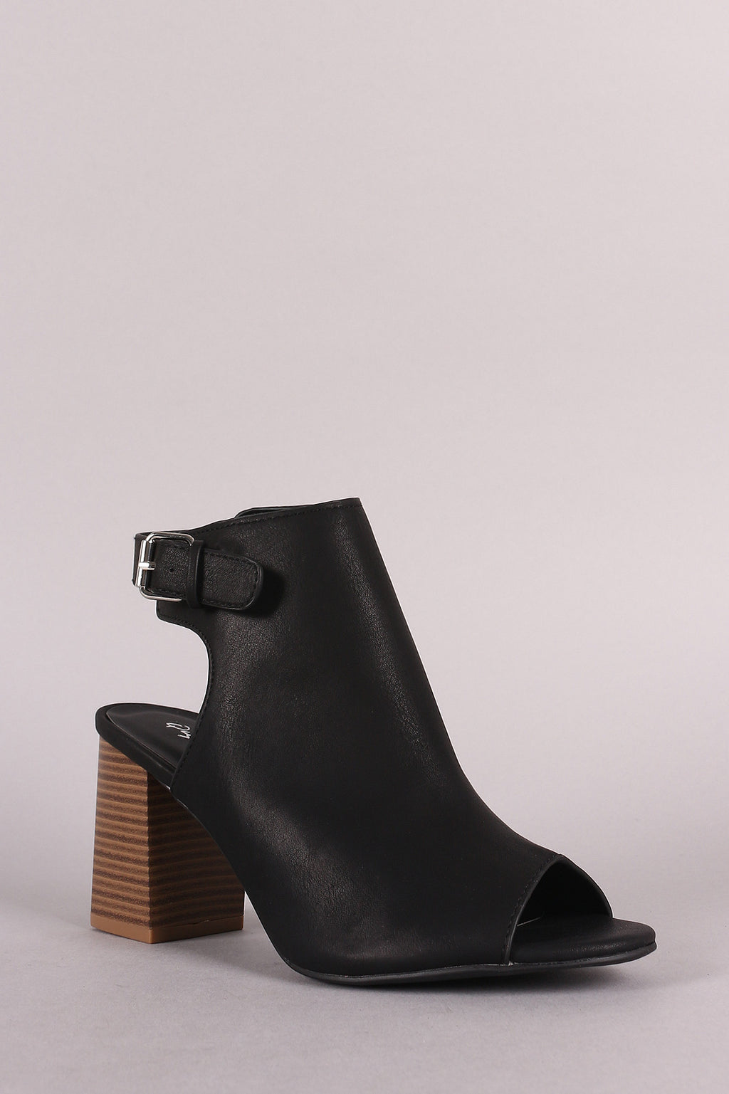 Waste It On Me - Black Slingback Block Heels