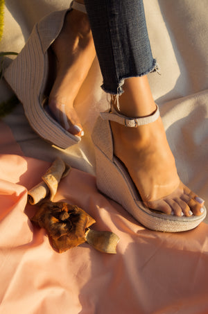 Island Affair - Beige Wedges