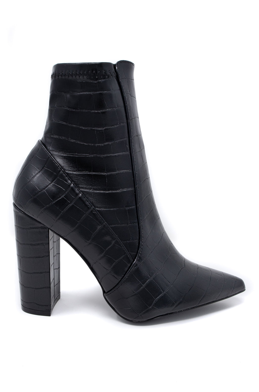 Insta Glam - Black Croco Booties