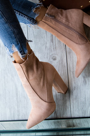 Insta Glam - Warm Taupe Booties