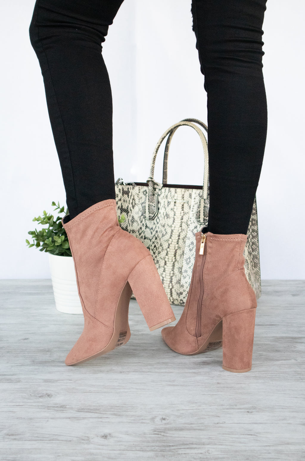 Insta Glam - Dark Blush Pointy Booties