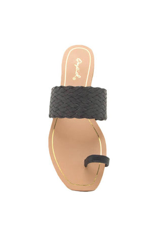 Isla de Mujeres - Black Toe Ring Sandals