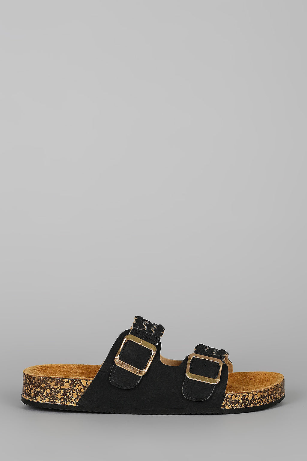 Island Oasis - Black Braided Sandals