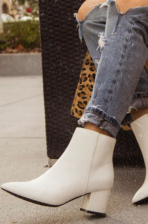 Keep In Touch - White Booties