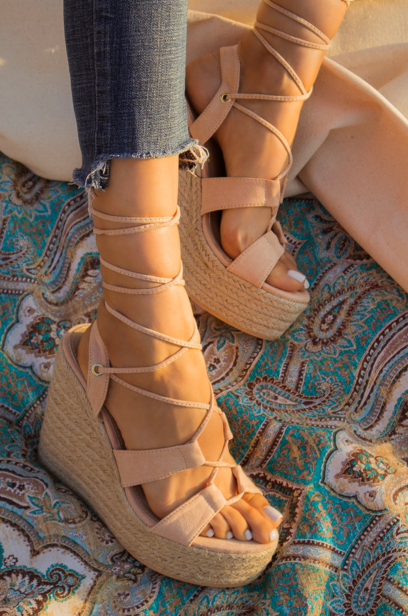 Lust Of Love - Nude Wedges