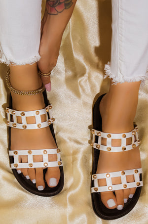 Level Up - White Sandals