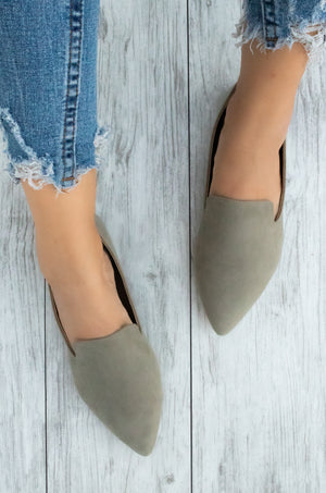 Making Moves - Khaki Loafer Flats