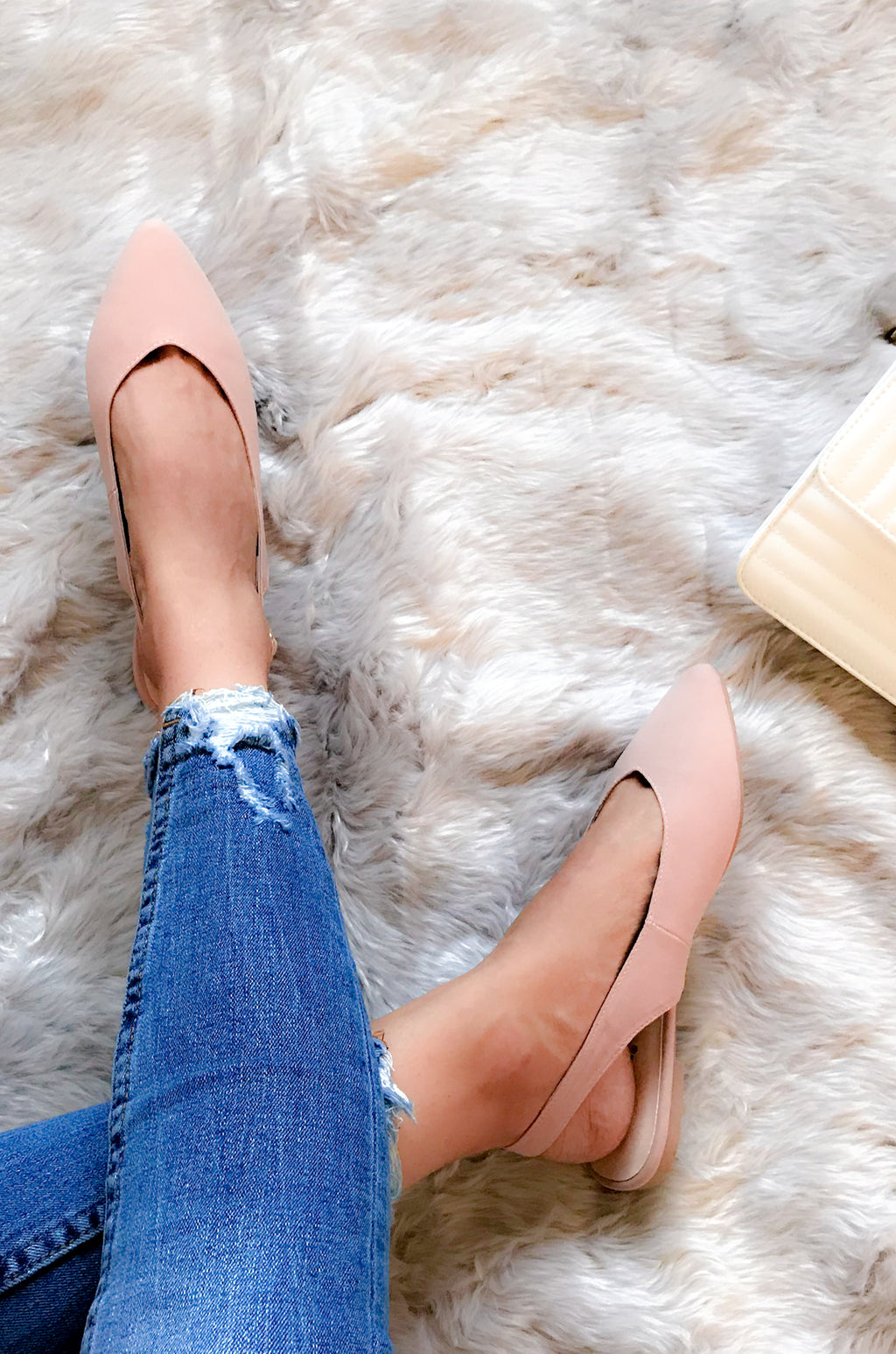 Manhattan - Blush Sling Back Ballerina Flats