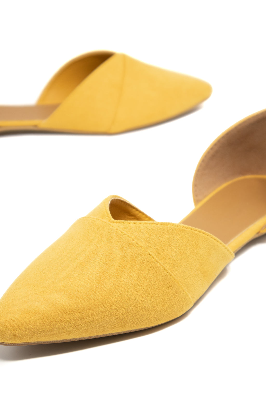 Meant To Be - Yellow D'Orsay Flats