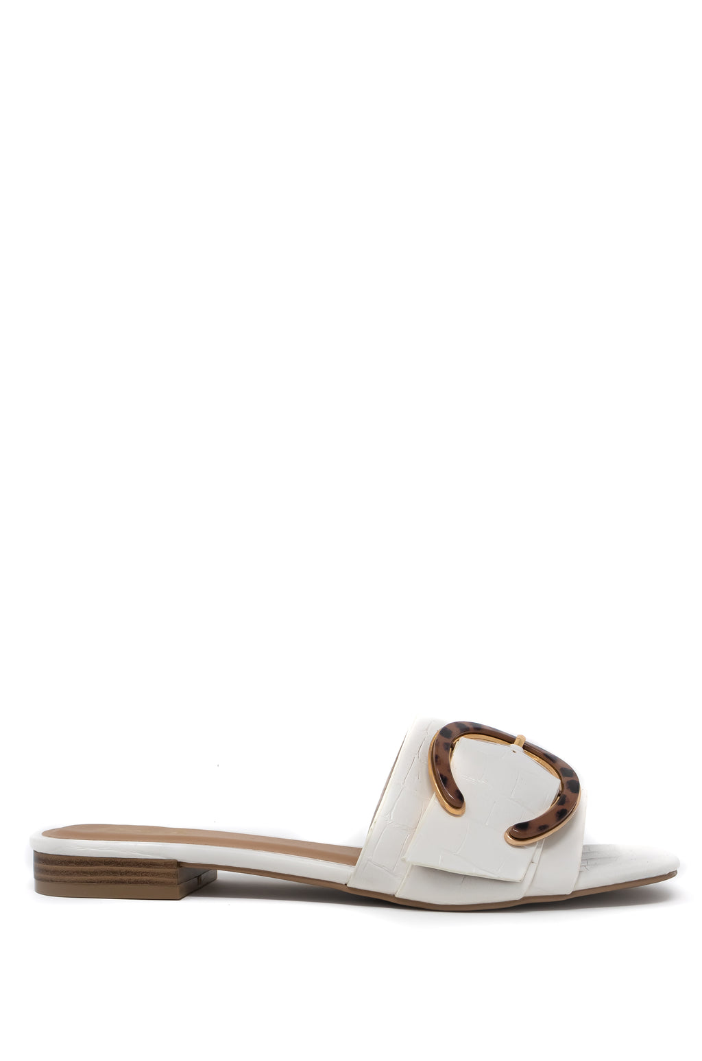 Mesmerized - White Croco Sandals