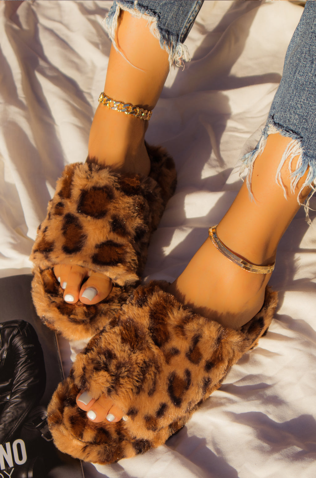 No Fronts - Leopard Sandals
