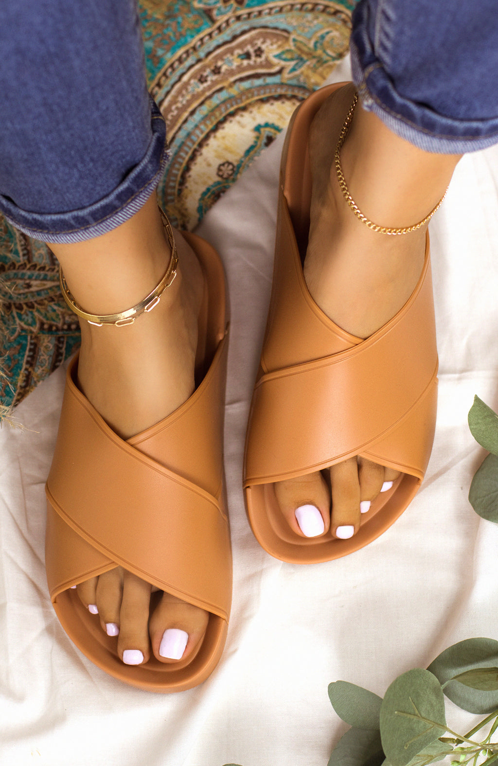 New Flame - Melon Sandals