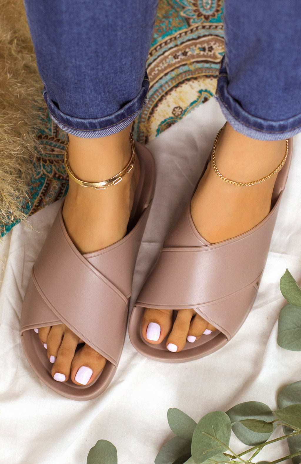 New Flame - Taupe Sandals