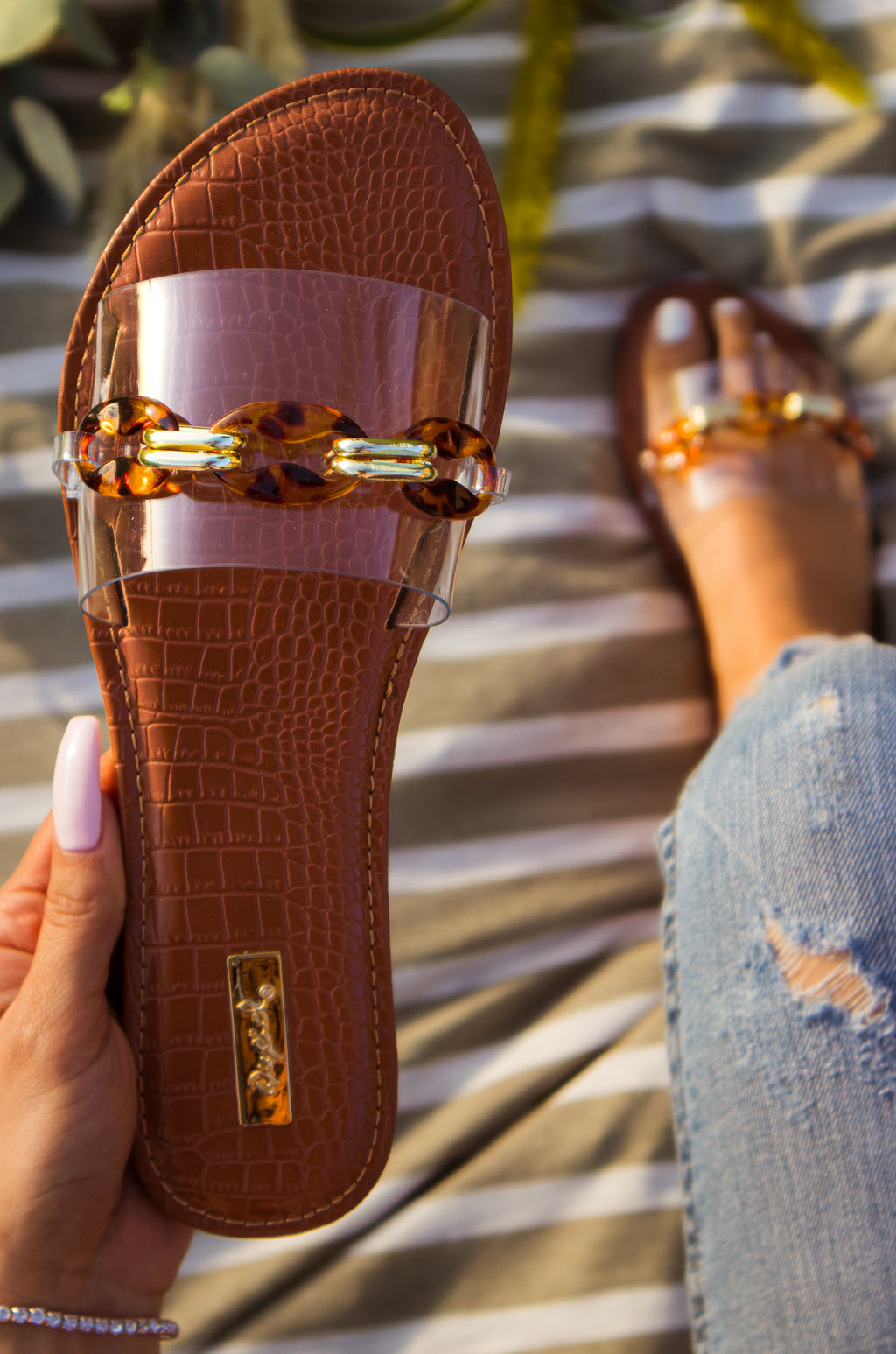 Persia - Clear Sandals