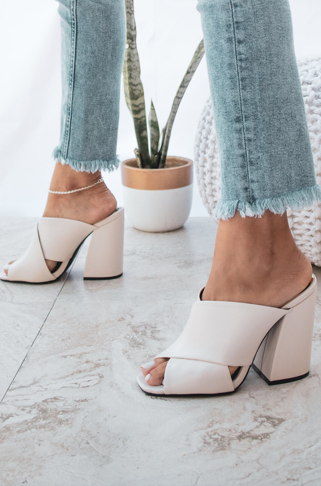 Ravishing - Off White Mule Sandals