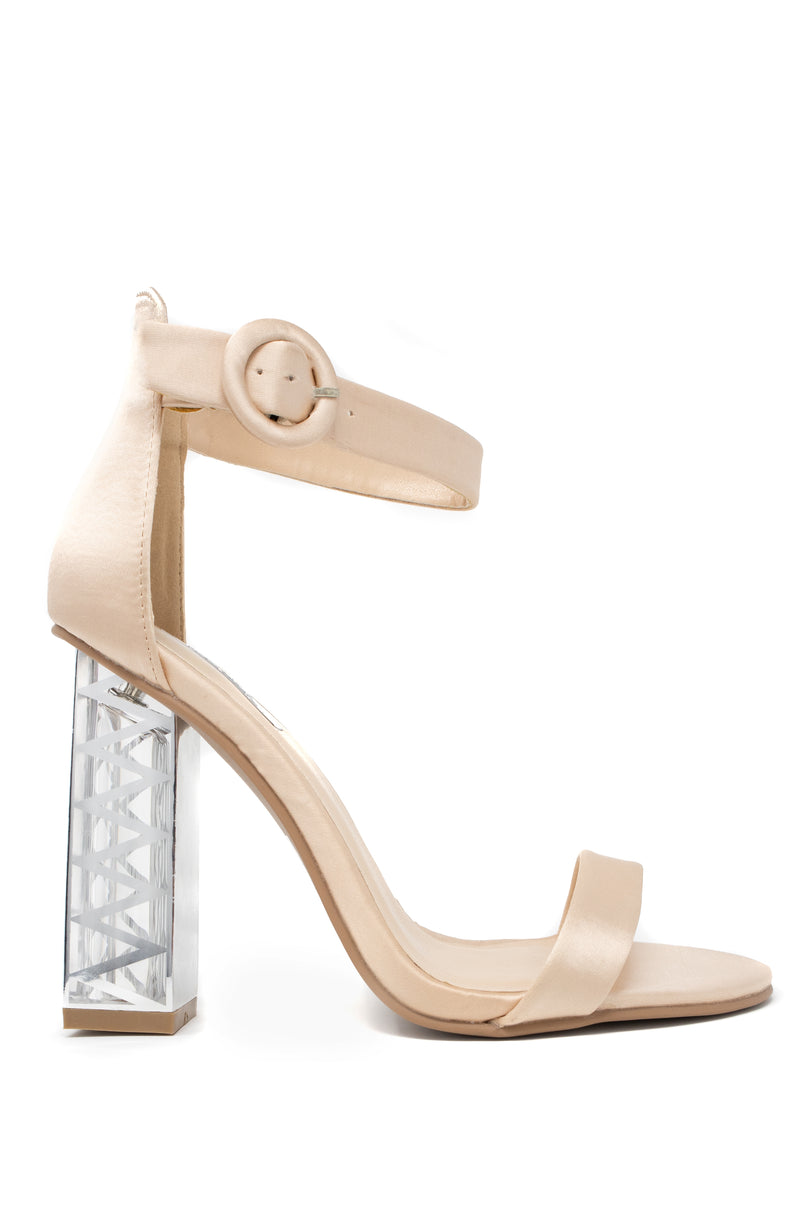 Rendezvous - Champagne Lucite Heels