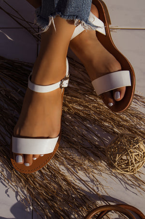 Rosarito Vibes - White Sandals