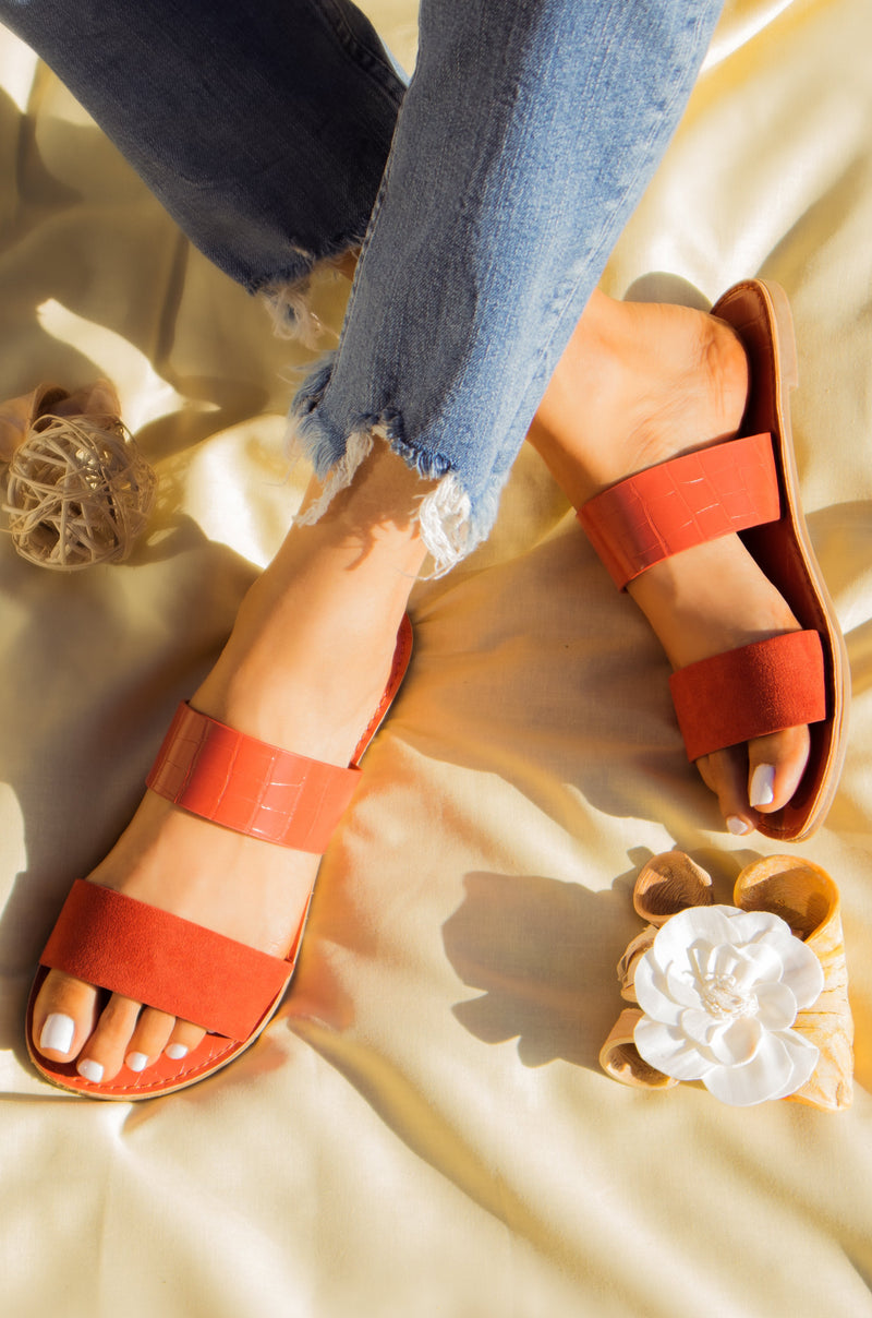 Rustic Sunrise - Brick Sandals