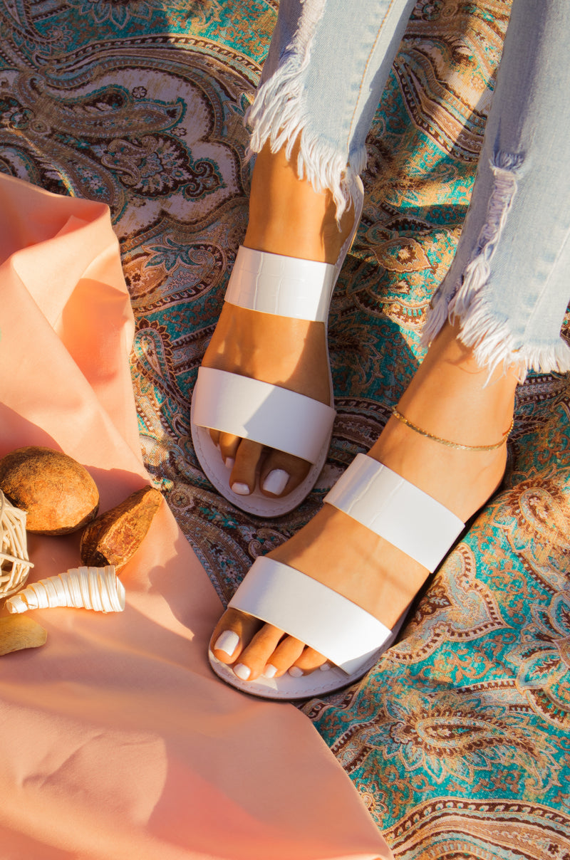 Rustic Sunrise - White Sandals