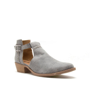 Indie Gem - Ash Grey Open Buckle Bootie