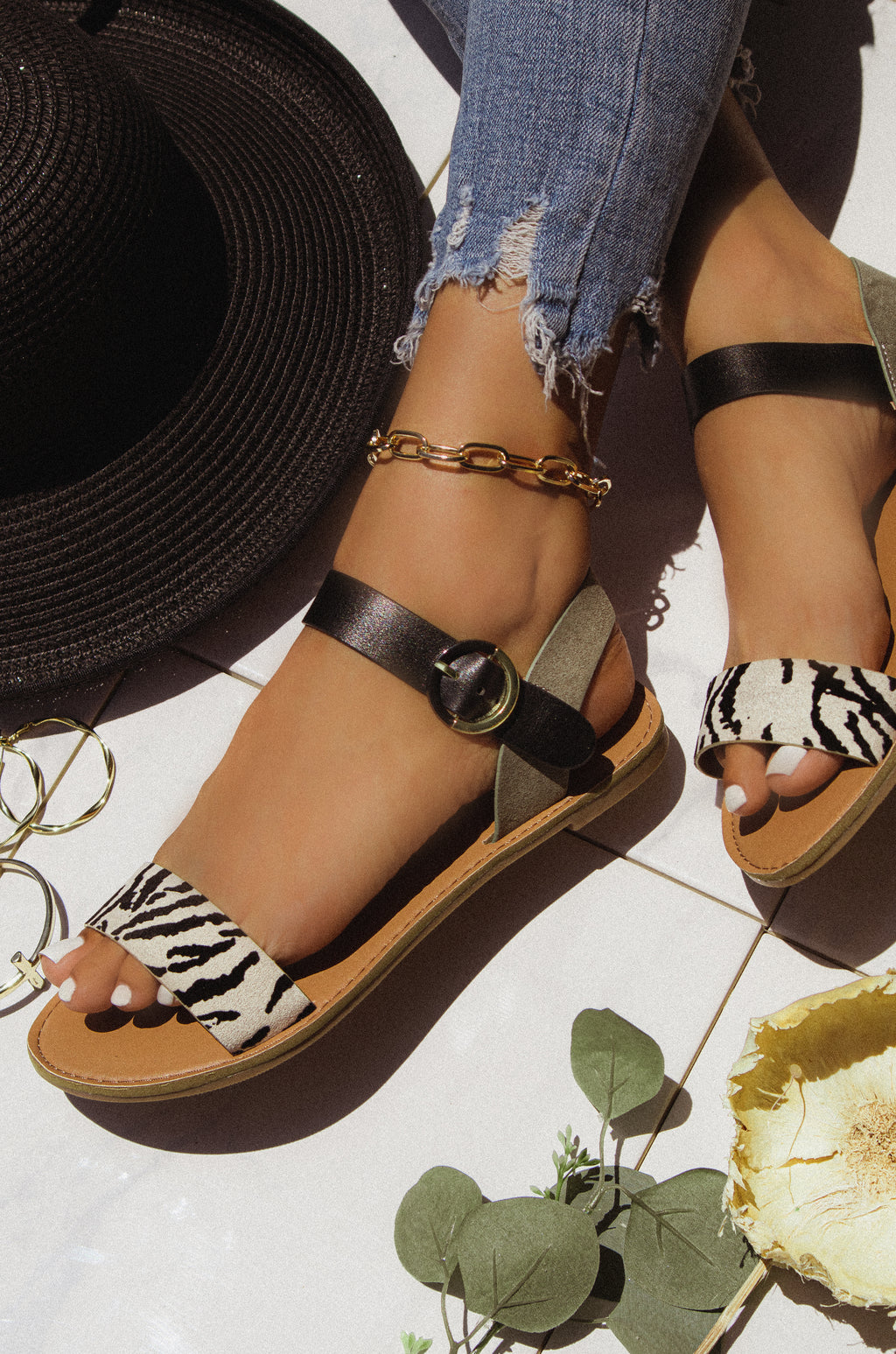 Safari - Zebra Sandals