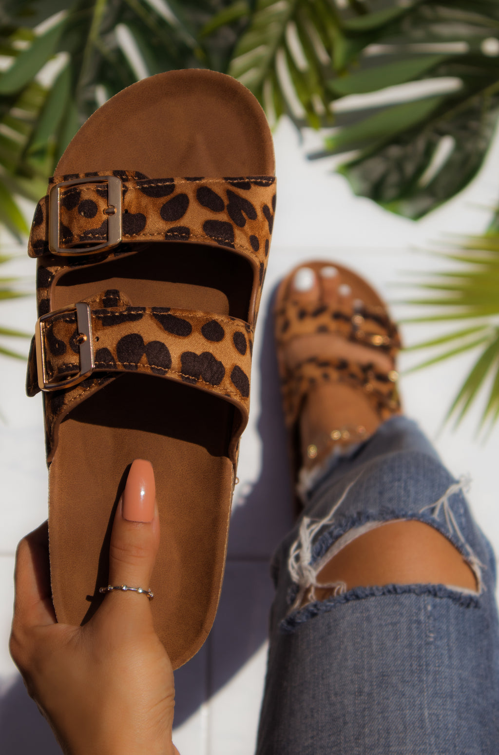Seaside Treasure - Leopard Sandals