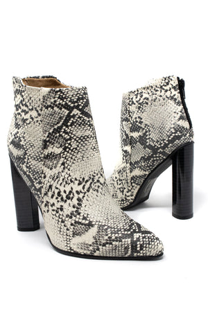 Shot Caller - Stone Snake Ankle Booties