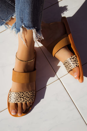 Sultry Escape - Cheetah Sandals