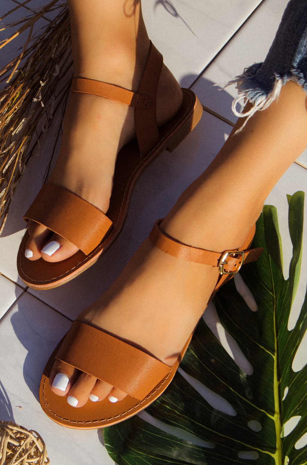 Sunset Dream - Camel Sandals