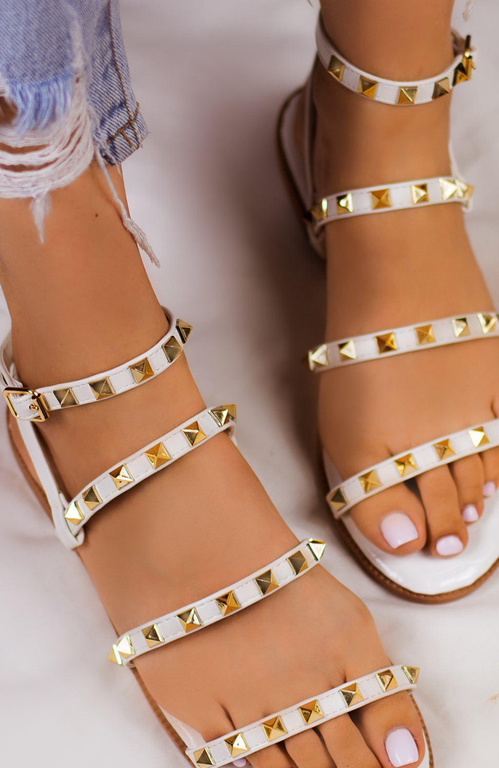 Super Posh - White Sandals