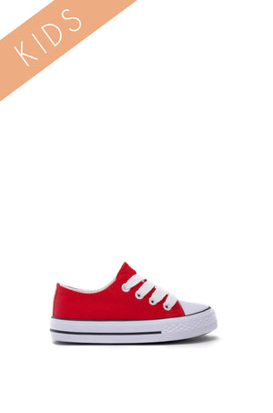 Taylor - Red Kids Sneakers