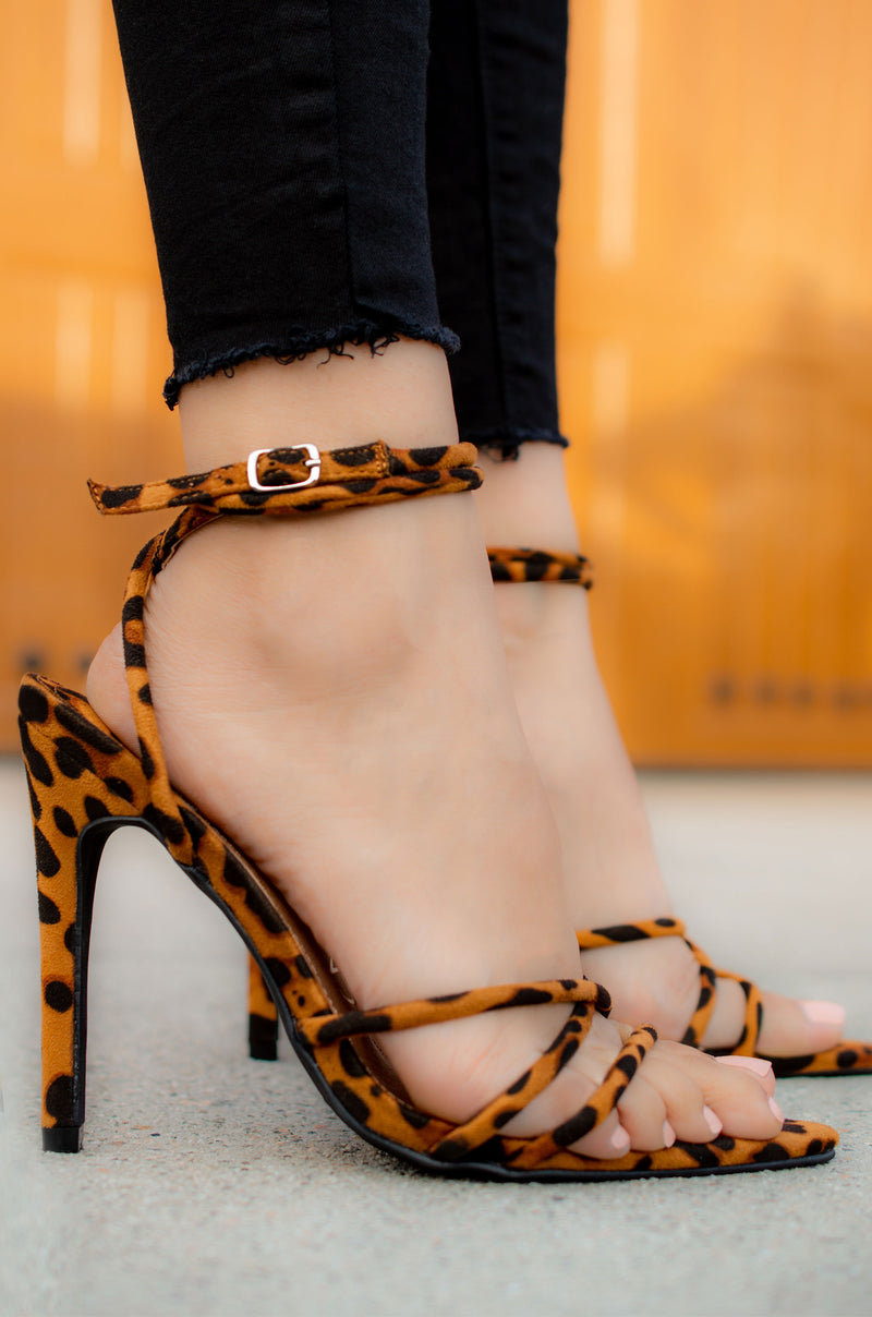Thotiana - Leopard Strappy Heeled Sandals