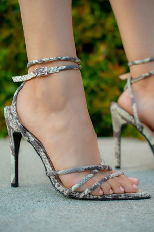 Thotiana - Snake Strappy Heeled Sandals