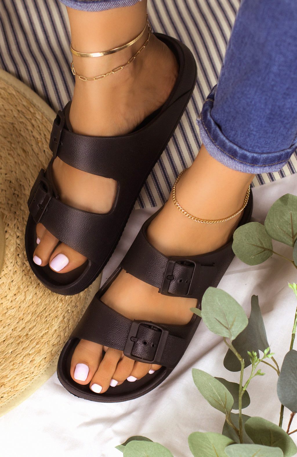 Travel Bound - Black Sandals