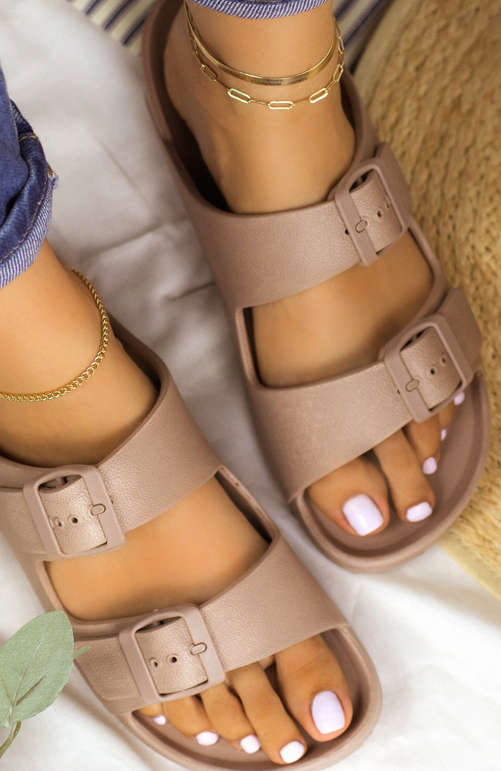 Travel Bound - Taupe Sandals