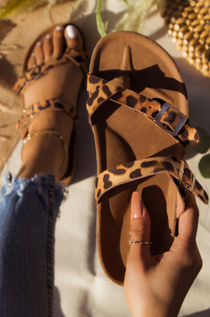Tropical Adventure - Leopard Sandals