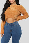 Warm Me Up - Mustard Crop Sweater