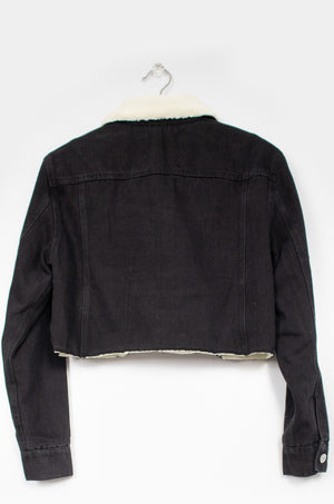 Worth It - Black Denim Jacket