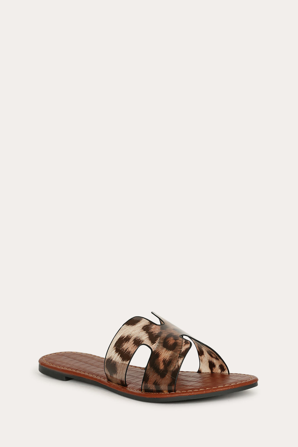 Staycation - Leopard One Band Sandals