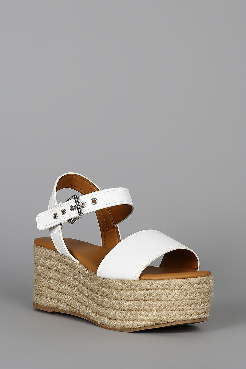 Boardwalk - White Flatform EspadrilleSandals
