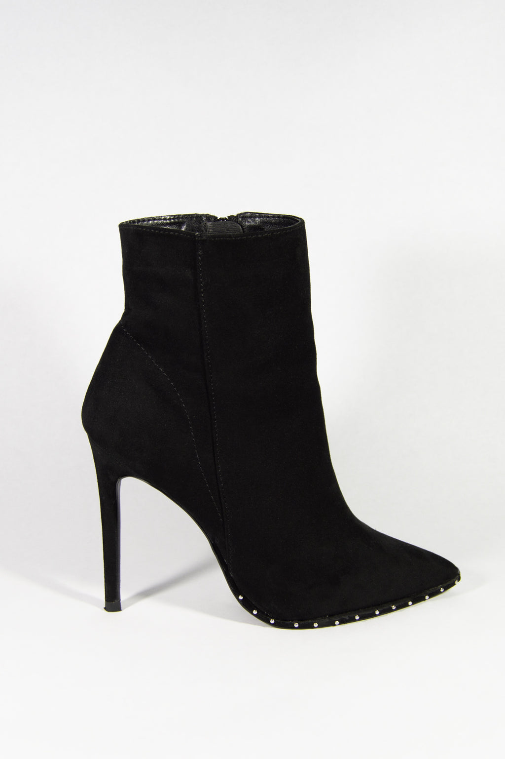 Bad Habits - Black Studded Ankle Booties