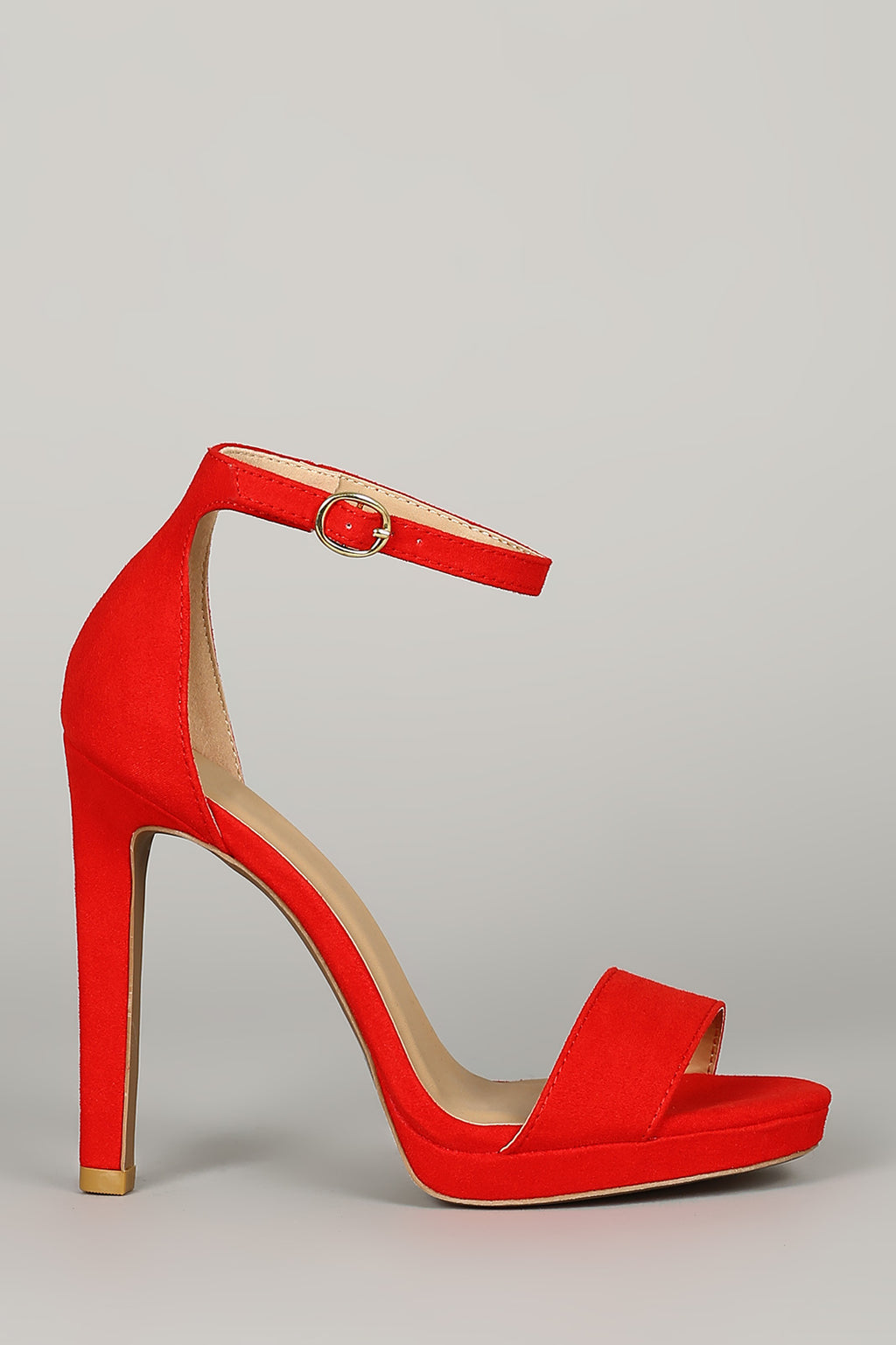 Lavish - Red Ankle Strap Heels