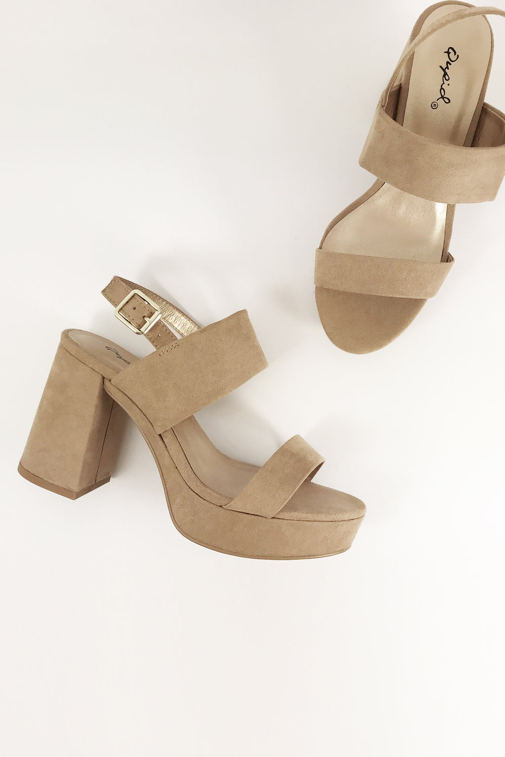 Eden - Warm Taupe Double Band Slingback Sandal