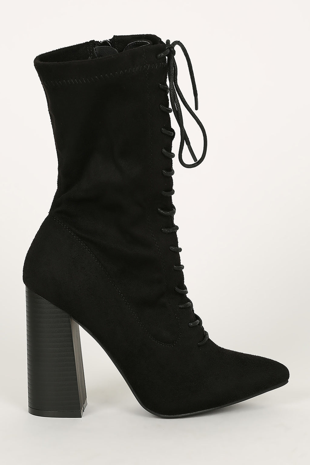 Ransom - Black Lace Up Booties