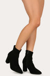 Upgrade You - Black Pointed Toe Booties