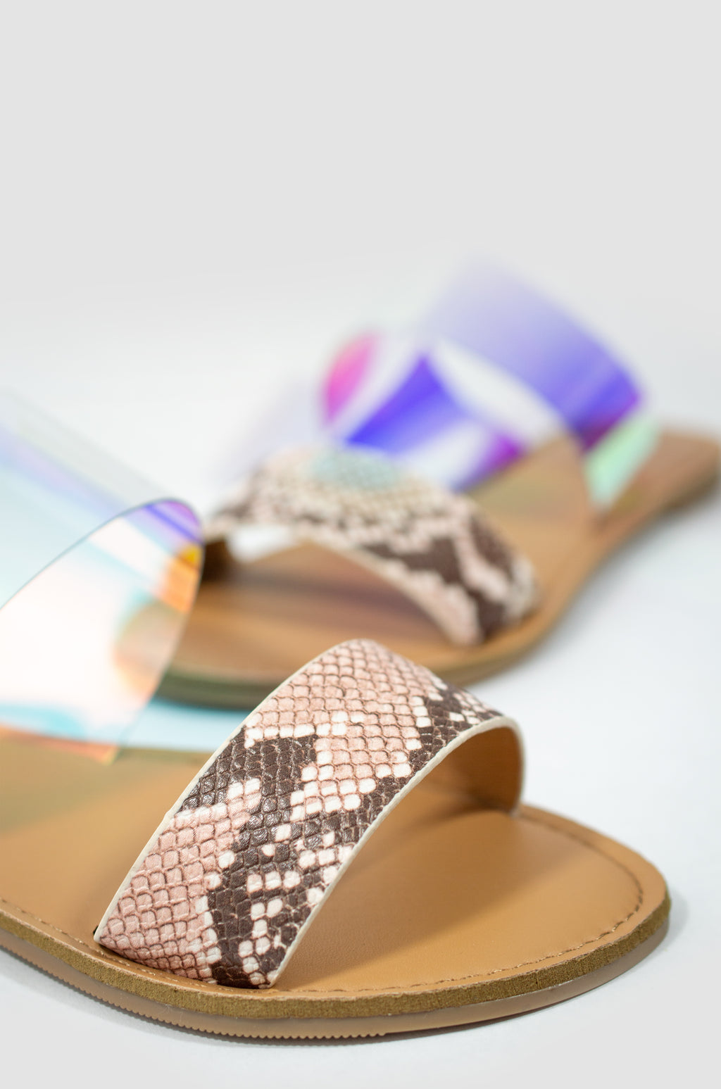 Endless Summer - Iridescent Snake Sandals