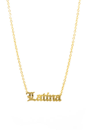 Latina AF - Gold Necklace