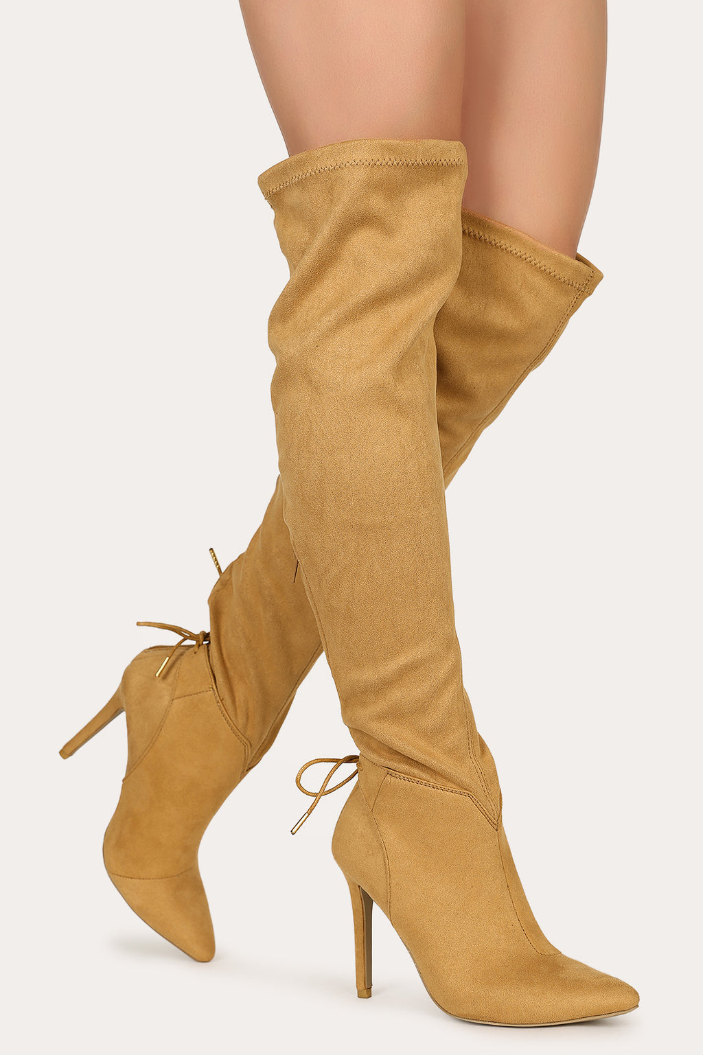 Hot Affair - Camel Stiletto Boots