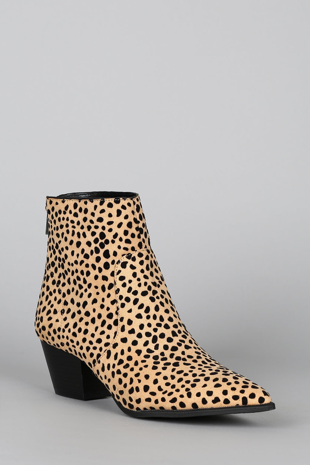 Stop and Stare -Tan Leopard Booties